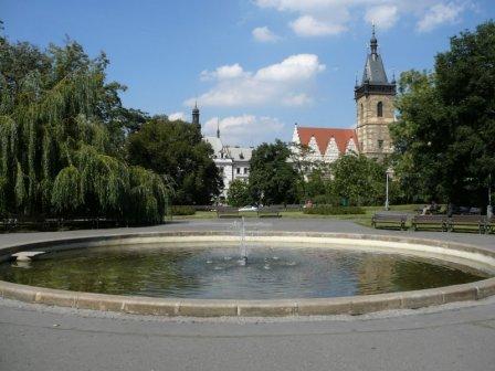Маленький фонтан на Карловой площади