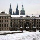 Пражский Град под снегом