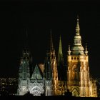Собор св. Вита и вид на ночную Прагу