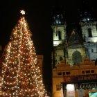 Рождественская елка на старой городской площади