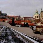 Вид на собор Микулаша с Петршинского холма