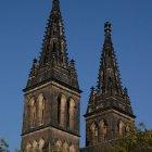 Башни-близнецы костёла в Вышеграде