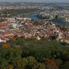 Вид Праги с Башни Наблюдения на горе Петрин