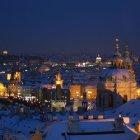 Ночь и зима в Праге