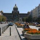 Цветочная аллея на площади Вацлава