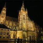 Собор Св. Вита - ночь в Пражском Граде