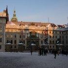 Зимний вечер в Пражском граде