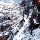 Укрытые снегом сады под Пражским Замком