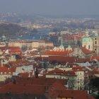 Вид с Петршина - Градчаны и мосты над Влтавой