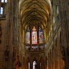 Готический интерьер собора Св. Вита