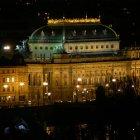Национальный театр Праги ночью