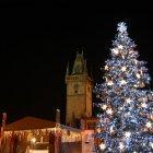 Новогодняя елка на Староместской площади Праги