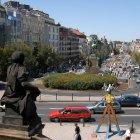 Вид на Вацлавскую площадь из Национального музея Праги
