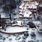 Сады Пражского Града зимой