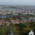 Чудесный вид на Прагу с обзорной Петршинской вышки