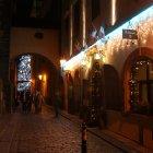 Тынская улица в Праге на Новый Год