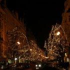Парижская улица Праги в рождественком убранстве