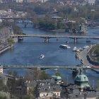 Вид на мосты Праги с собора Св. Вита