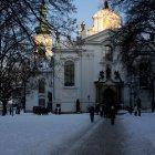 Зимняя дорожка к Страговскому монастырю Праги