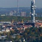 Телевизионная вышка и район Жижков