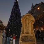 Вацлавская площадь на Рождество в Праге